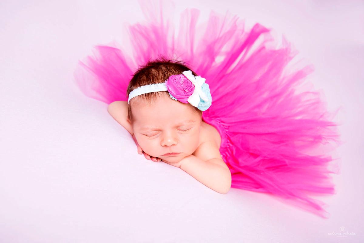 zdjecie noworodkowe baletnica